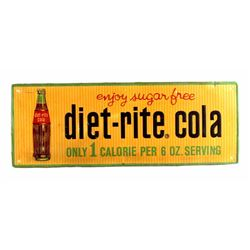 Diet-Rite Cola Advertising Sign