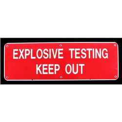 Porcelain Enamel Explosives Sign
