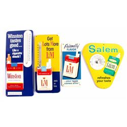 Cigarette Advertising Thermometer Collection