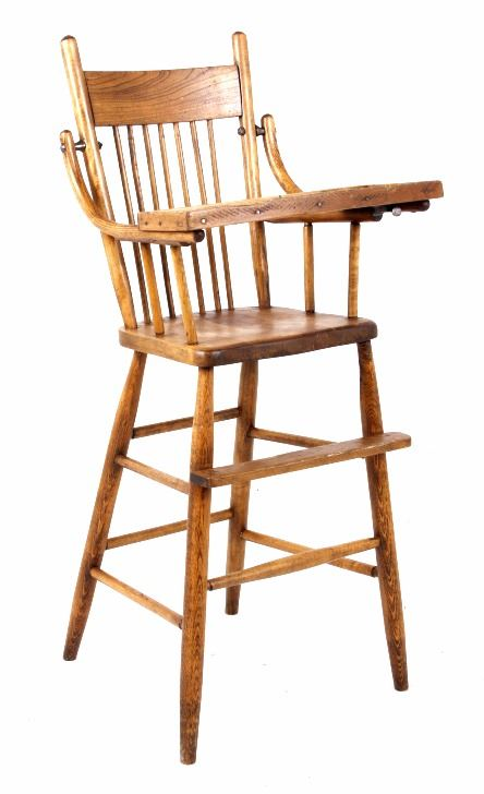 Image 1 : Early Mahogany Child High Chair ...