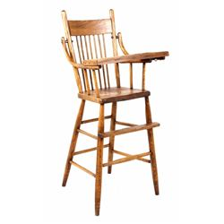 Early Mahogany Child High Chair