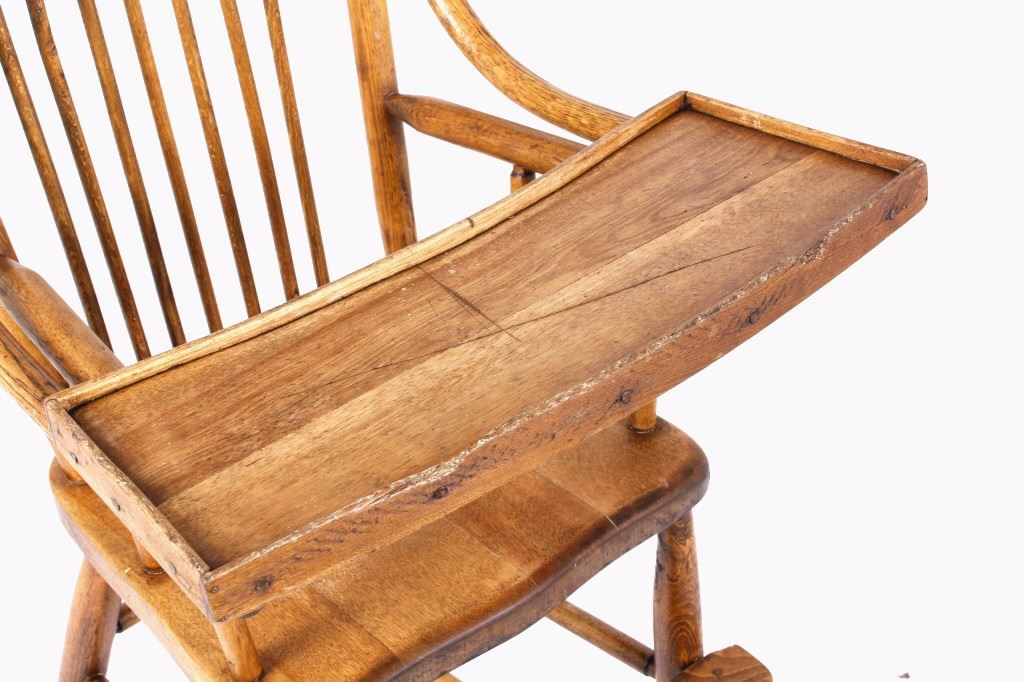 ... Image 4 : Early Mahogany Child High Chair ...