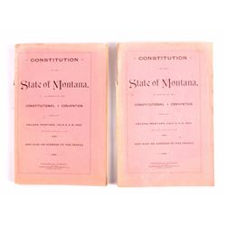 State of Montana Constitutions 1889