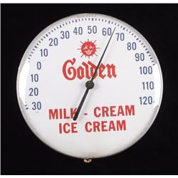 Golden Ice Cream Advertising Thermometer