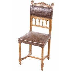 Early Upholstered Sheraton Side Chair