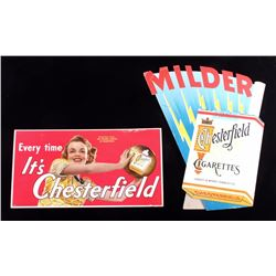 Chesterfield Cigarette Advertising Signs