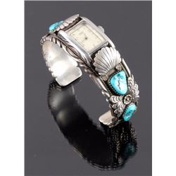 Navajo Sterling Silver Turquoise Watch Cuff