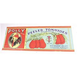 Large Polly Brand Tomatoes Label Banner