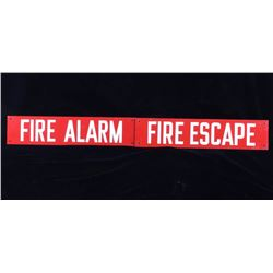 Early Building Fire Alarm & Escape Signs