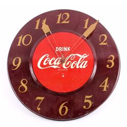 Original Coca-Cola Advertising Wall Clock