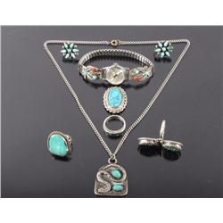 Navajo Turquoise & Silver Jewelry Collection