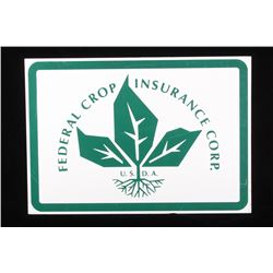 Early Federal Crop Insurance Corp. Metal Sign