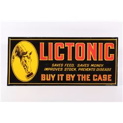 Lictonic Feed Metal Advertisement Sign