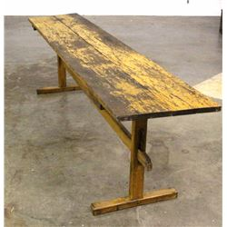 Primitive Montana Farmhouse Wood Long Table Early