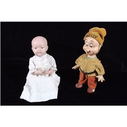 Early Disney Sneezy & Parson Baby Dolls