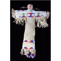 Sioux Beaded Buckskin Doll
