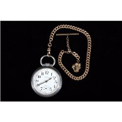 Orvin 17 Jewel Pocket Watch & 12kt Gold Chain