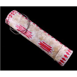 Sioux Painted Rawhide Arrow Quiver