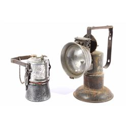 Oxweld & Justrite Uncle Sam Carbide Mining Lamps