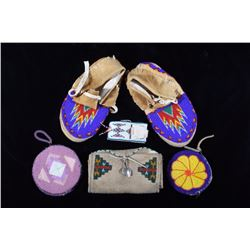 Plains Native American Indian Bead Work Collection