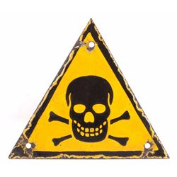 WWII Nazi Skull & Crossed Bones Porcelain Sign