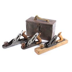 Early Wood Planes With Storage Box