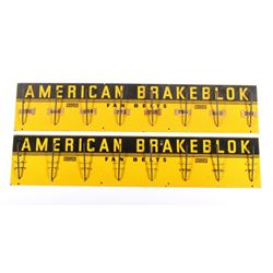 Early American BrakeBlok Display Fan Belt Signs