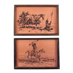 Robert Morgan Montana Artist Copper Etchings