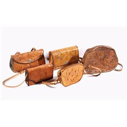 Ornately Tooled Leather Purse Collection