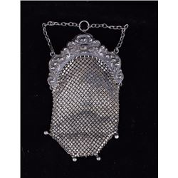 Early German Silver Chain Mail Purse