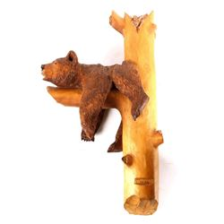 J. Jensen Hand Carved Bear Wall Art