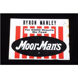 Original MoorMan's Farm Feed & Seed Metal Sign
