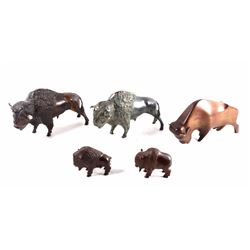 Collection of Buffalo Figurines