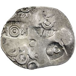 MAGADHA: Punchmarked, ca. 500-430 BC, AR karshapana (3.34g). VF