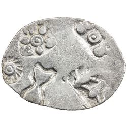 MAGADHA: Punchmarked, ca. 500-430 BC, AR karshapana (3.30g). VF