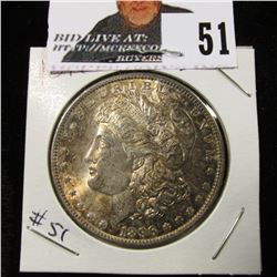 1896 Morgan Dollar great toned BU