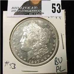 1897 Morgan Dollar BU flashy PL