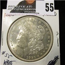 1921 D Morgan Dollar BU