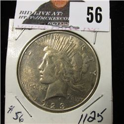 1923 S Peace Dollar BU nice color on rev