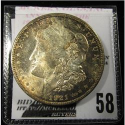 1921 Morgan Dollar nicely toned BU
