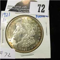 1921 D Morgan Dollar nice BU