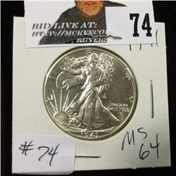 1941 Walking Half Dollar MS 64