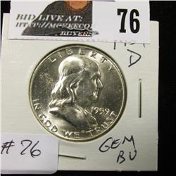 1959 D Franklin Half Gem BU