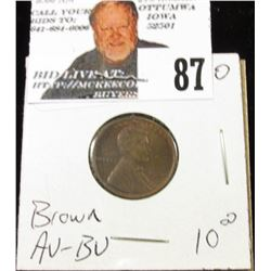 1920 Lincoln Cent Brown AU-BU