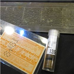 """Better Seeing For Better Living"" old linotype Printing plate; (3) different ""Albers Profit Sharing"