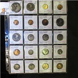 20-Pocket Plastic Page with (20) Cook Islands Coins, including One Cent, 2 Cent, 5c, 10c, 20c, & 50c