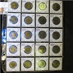 Collection of (20) 1985R-91R Italy 500 Lire Uncirculated Coins, all in a plastic 20-pocket page.