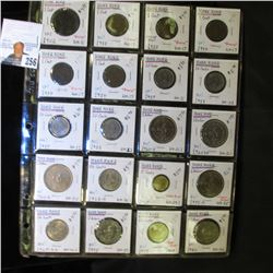 Collection of (20) various Hong Kong Coins in a 20-pocket Plastic page. All Attributed and priced to
