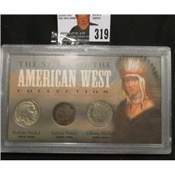 """The Spirit of the American West Collection "" Special cased set containing Indian Cent, Buffalo Nick"