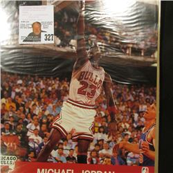 "(10) Different NBA Hoops 8"" x 10"" Glossy Printed Photos with players Stats on back. Includes Michael"